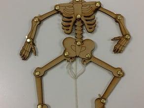 Lasercut moving skeleton