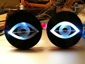 Eyes for stupid pet trick - Blinking LED's