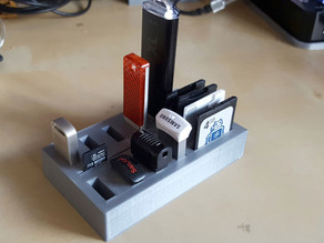 USB and Memory Card Holder