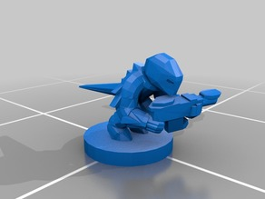 Epic Scale Tyranid Termagant Proxy - low poly