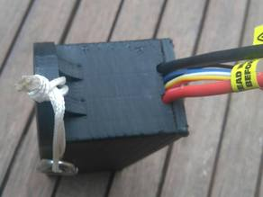 LiPo battery cover for caving