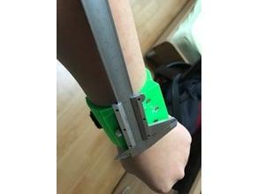 Magnetic bracelet for metal tools