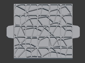 "Foam Terrain Stamp - Ice - 1"" grids"