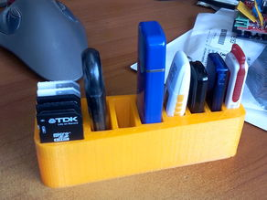 Holder for USB key and SD memory cards