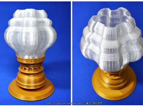 Victorian Hurricane Lamp-Lampshade Modify