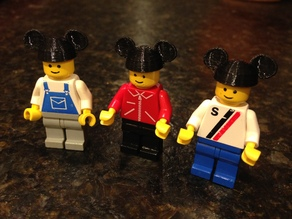 Mickey Ears for Lego Minifigs