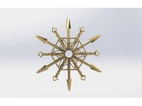 Snowflake for BlocksCAD® Snowflake Challenge #BlocksCADSnowflake #2