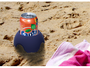 Sand Coaster -- Keep Your Soda Pop Can Clean and Free from Sand!