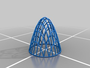 Wireframe Paraboloid and Disk