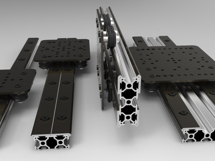 Openbuilds 174 Open Rail Open Source Linear Bearing System