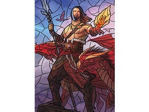 Sarkhan the Masterless - stained glass - litho
