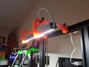 Ender 3 LED light bar holder