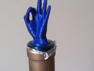 "Hand ""OK"" Wine stopper"
