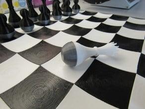 flat bottom base for wobbly chess set