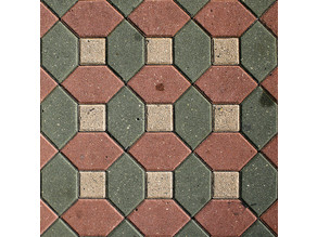 Hex & Square Tile Pattern (Roller & Stamp)