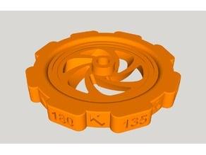 CR10 precision leveling knob Remix 3