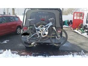 Spare tire bike rack for mountain bike