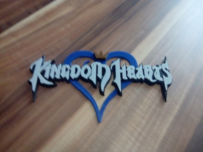 Kingdom Hearts Logo remixed for multi-colour printing