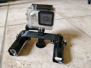 Support Gopro pour 2 lampes
