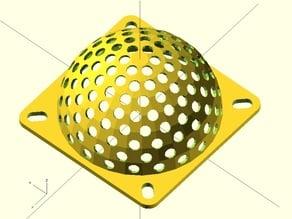 Spherical fan grille for 60mm fan
