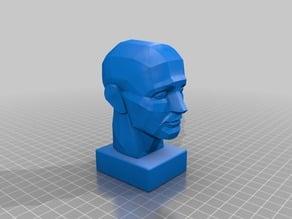 Planar Head Sculpture by Oleg Toropygin