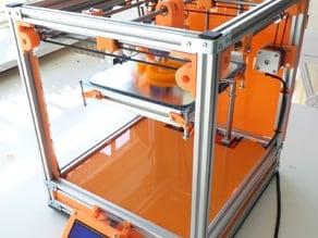 Custom parts for Ultimaker 2 Aluminum Extrusion 3D printer