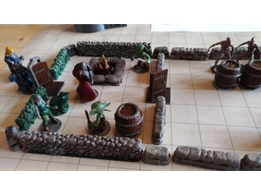 Short Low Stone Walls (18mm scale)