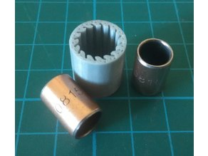 Replacement of sliding bearings LM8SUU