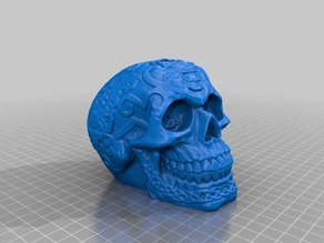 Celtic Skull (flat base)