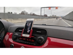 Car phone mount for Fiat 500