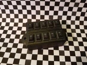 mini 12v Rocker Switch Bock (10 pcs) / mini 12V Schalterblock (10 Stück)