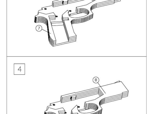 Rubber Band Gun Diagram