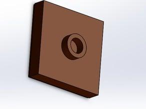 lego plate 2x2 with 1 knob