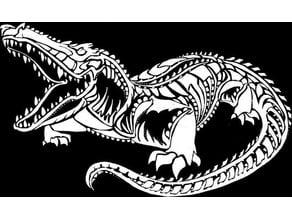 Crocodile stencil
