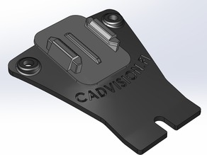 Action camera mount for RC Celica