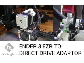 Ender 3 direct drive extruder / EZR extruder adaptor