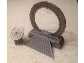 Stone Base for 28mm Stargate with text and DHD