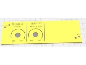 A320 Lightning Panel Pilot Side  144,5*45mm