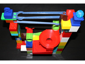 Enlarged simple wedged tracks - Duplo compatible marble run