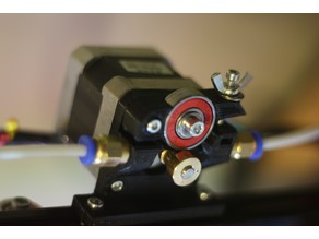 Improved Compact Bowden Extruder, direct drive 1.75mm (6mm fittings)