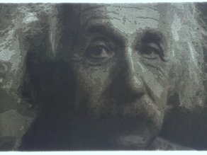 Einstein lithophane