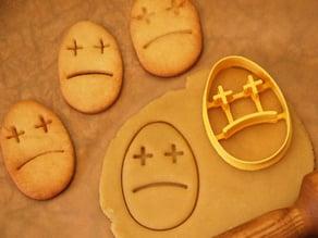 Easter sad egg cookie cutter
