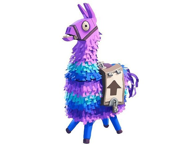 graphic regarding Llama Printable titled Fortnite Loot Llama (basic printable) by means of City69 - Thingiverse