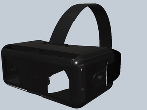 Virtual reality headset for smartphones (Playstep3DVR V.5)