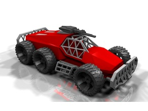 Armored vehicle, printable without supports