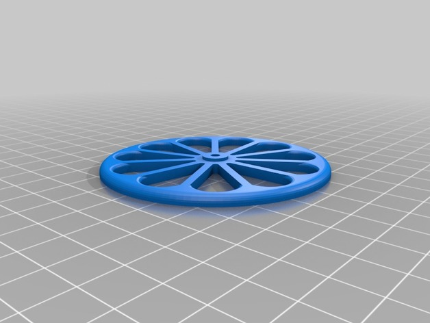 model airplane wheel 70 mm by reprapper thingiverse