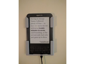 Kindle 3 Keyboard Wall Mount Literary Clock