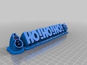 Name Plate Graphics HoHoHo