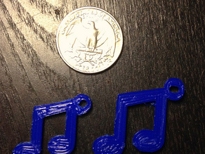 Music Note Key Chain