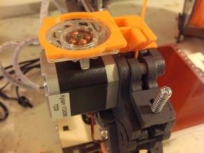 Printrbot filament guide and fan mount for extruder stepper motor v2!